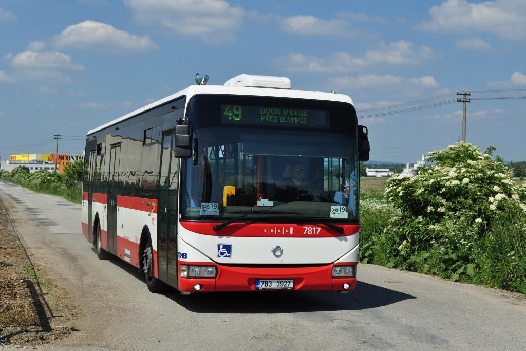 Fotogalerie » Irisbus Crossway LE 12M 7B3 3927 7817 | Modřice | U Jezu | Dvůr v Lese