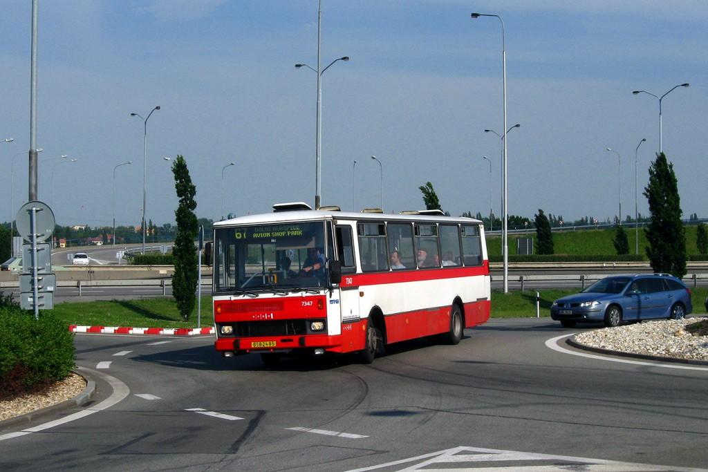 Fotogalerie » Karosa B732.1654 BSB 24-85 7347 | Brno | Dolní Heršpice | kruhový objezd u Avionu