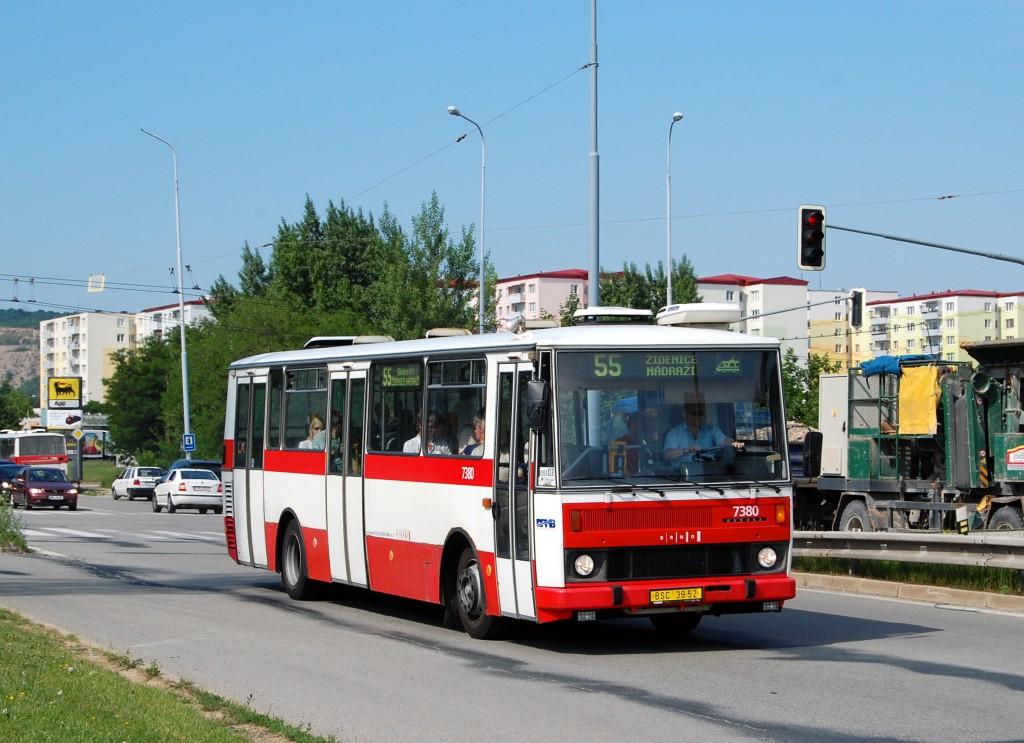 Fotogalerie » Karosa B732.1654.3 BSC 39-52 7380 | Brno | Líšeň | Jedovnická