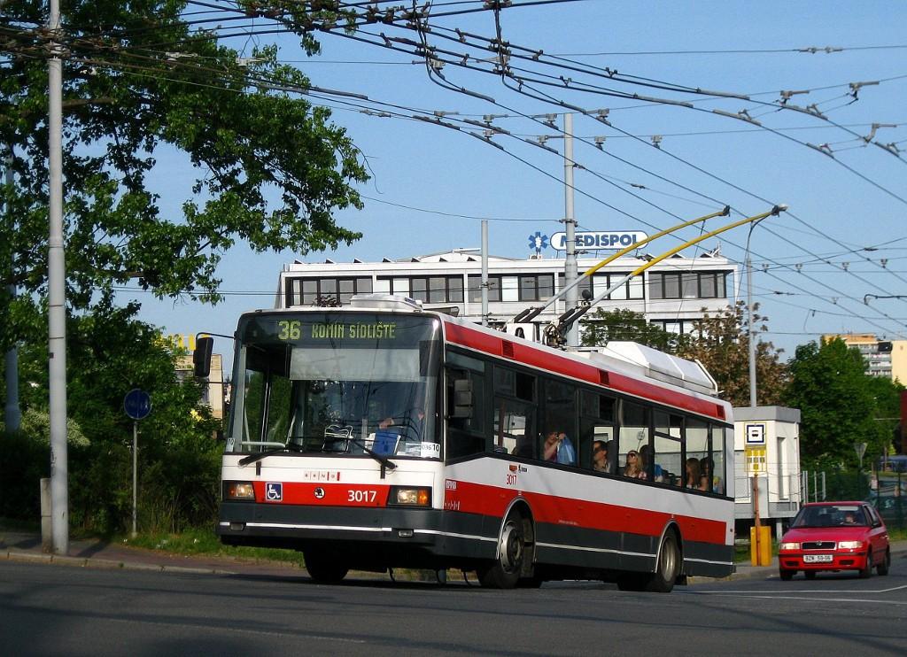 Fotogalerie » Škoda 21Tr 3017   Brno   Žabovřesky   Přívrat