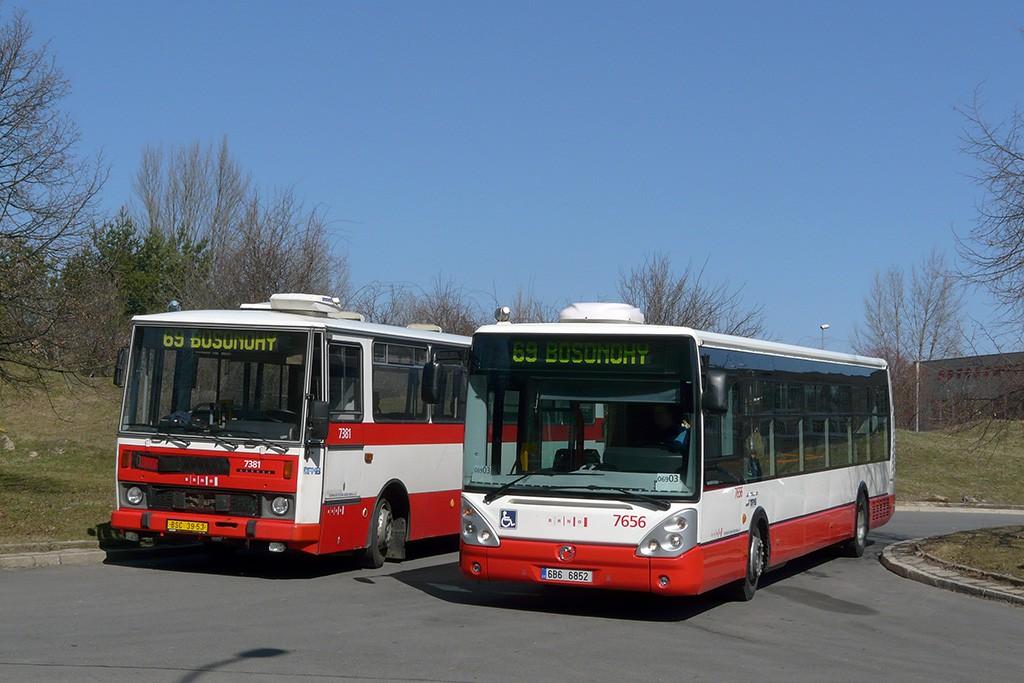 Fotogalerie » Karosa B732.1654.3 BSC 39-53 7381 | Irisbus Citelis 12M 6B6 6852 7656 | Brno | Bohunice | Ukrajinská | Ukrajinská