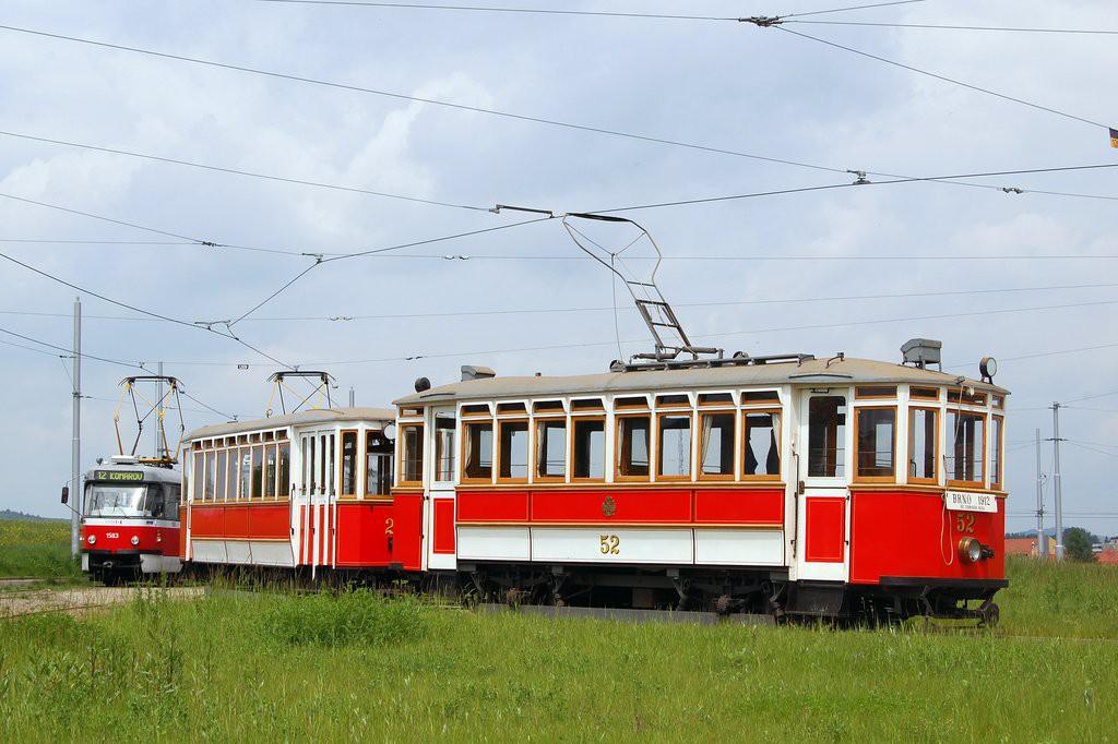 Fotogalerie » Vagónka Studénka m 205 | Graz mv4 52 | Brno | Medlánky | Purkyňova | Technologický park, smyčka