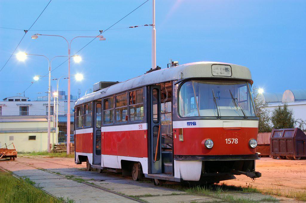 Fotogalerie » ČKD Tatra T3M 1578 | Brno | vozovna Medlánky