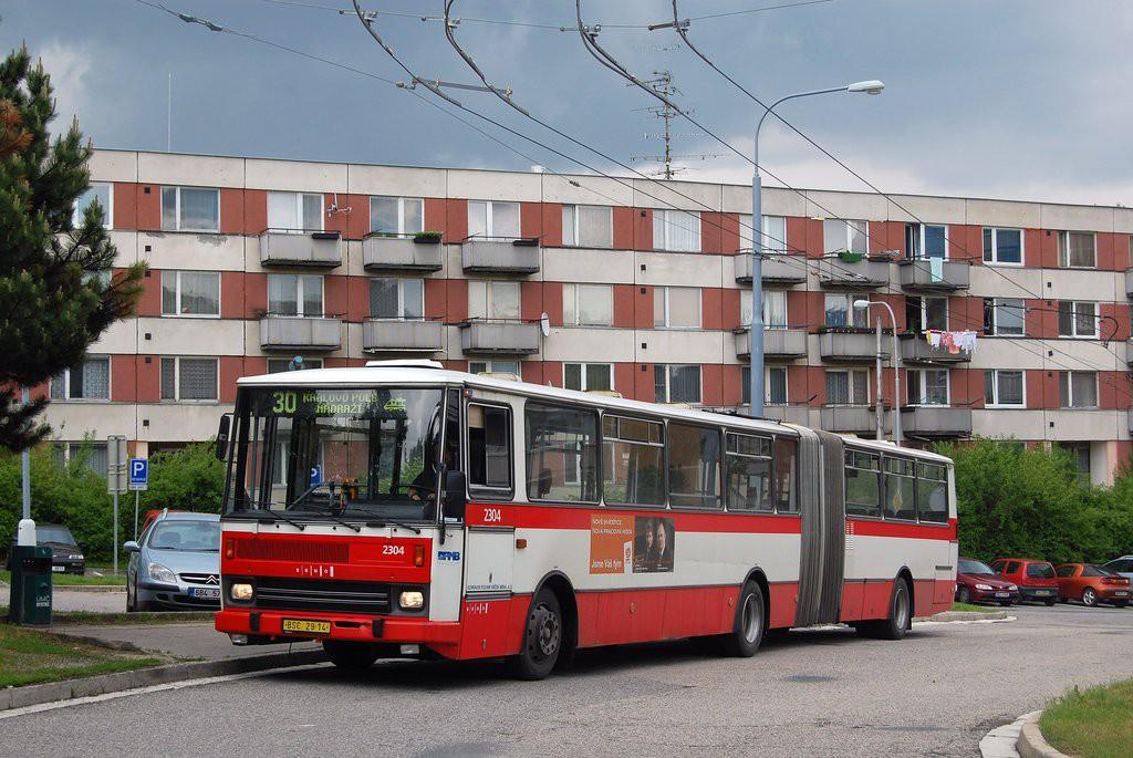 Fotogalerie » Karosa B741.1916 BSC 29-14 2304 | Brno | Bystrc | Černého | Černého