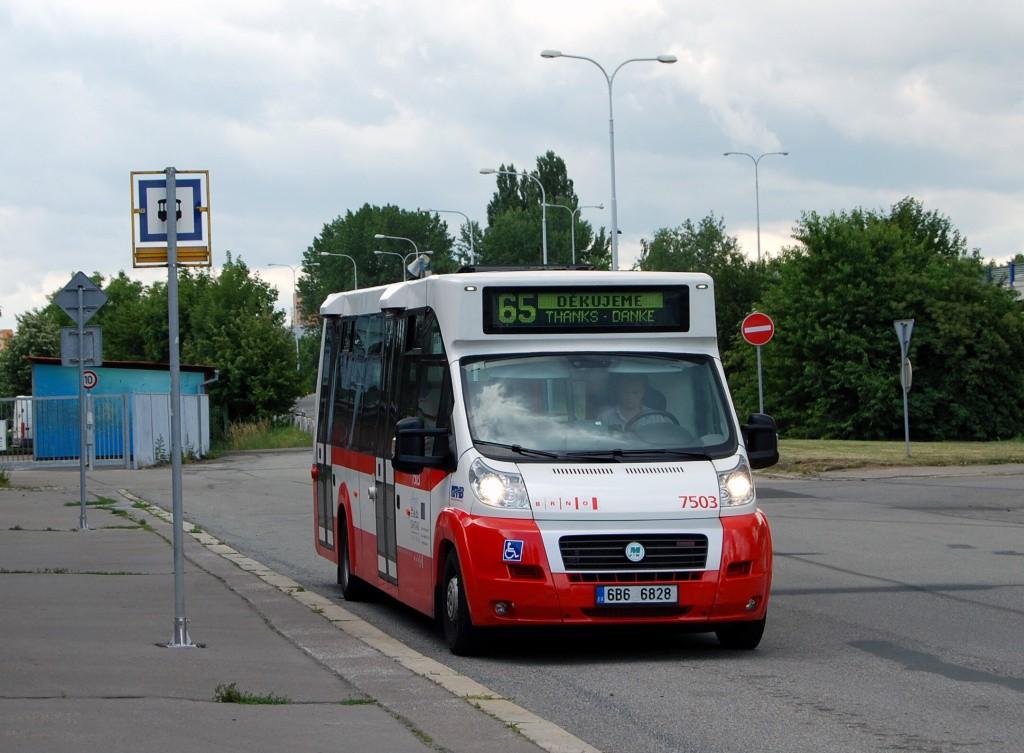 Fotogalerie » MAVE-Fiat CiBus ENA MAXI 6B6 6828 7503 | Brno | Řečkovice | Gromešova | Řečkovice, nádraží