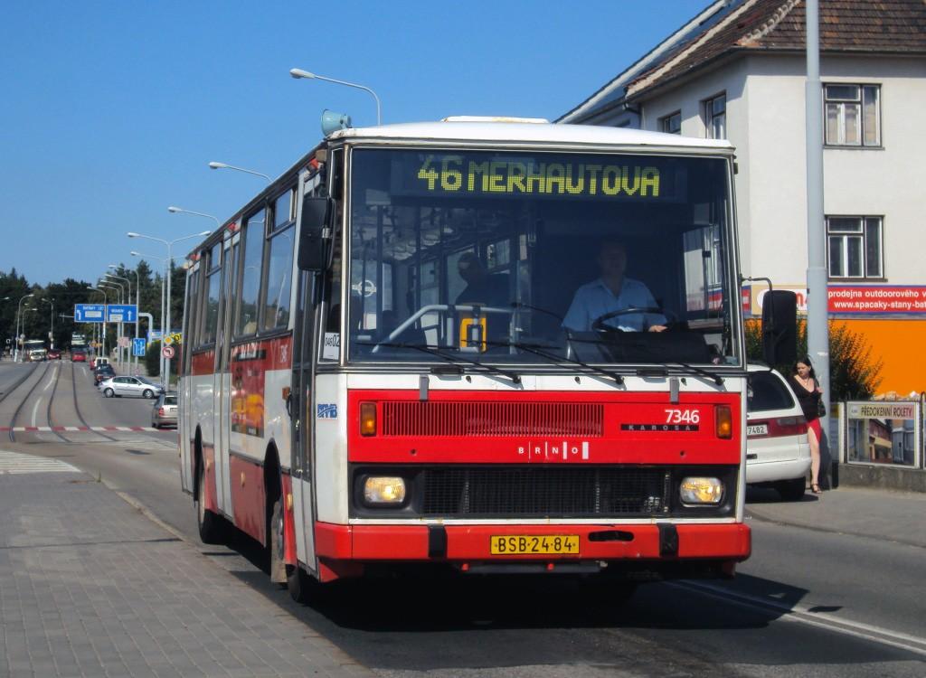 Fotogalerie » Karosa B732.1654 BSB 24-84 7346 | Brno | Černá Pole | Merhautova | Štefánikova čtvrť