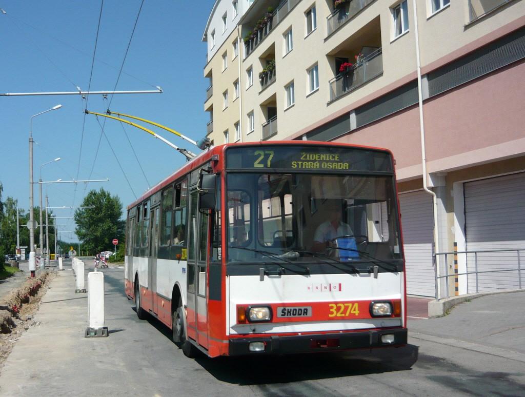 Fotogalerie » Škoda 14Tr17/6M 3274 | Brno | Vinohrady | Věstonická