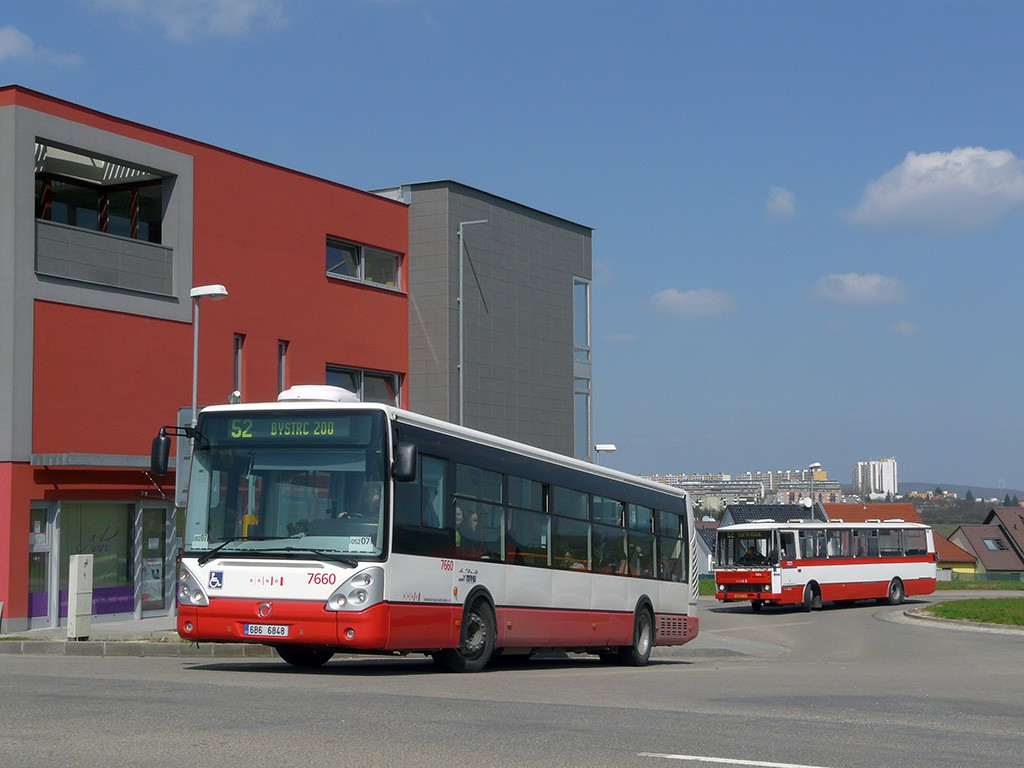 Fotogalerie » Irisbus Citelis 12M 6B6 6848 7660   Karosa B732.40 BSB 62-30 7273   Brno   Žebětín   Bartolomějská