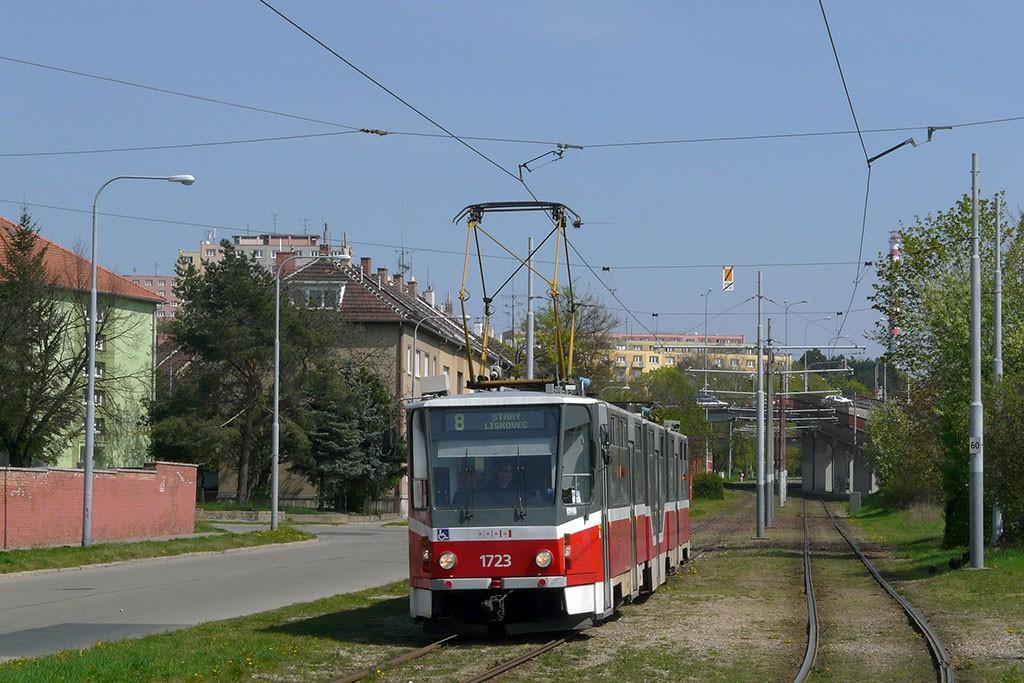 Fotogalerie » ČKD Tatra KT8D5R.N2 1723 | Brno | Židenice | Nezamyslova