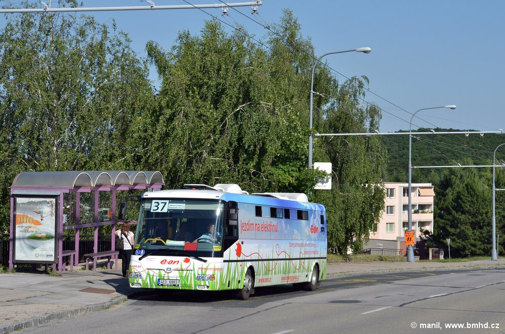 Fotogalerie » SOR EBN 10.5 4E3 6883 | Brno | Kohoutovice | Libušina třída | Stamicova