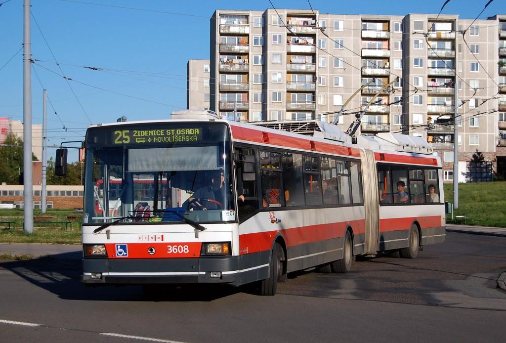 Fotogalerie » Škoda 22Tr 3608 | Brno | Starý Lískovec | Osová | Osová