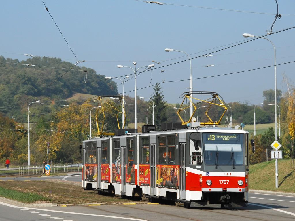 Fotogalerie » ČKD Tatra KT8D5R.N2 1707 | Brno | Královo Pole | Purkyňova