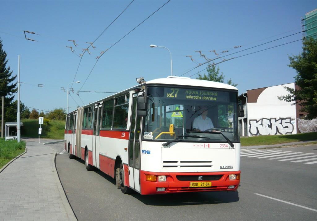 Fotogalerie » Karosa B941.1930 BSD 24-64 2334 | Brno | Vinohrady | Věstonická | Čejkovická