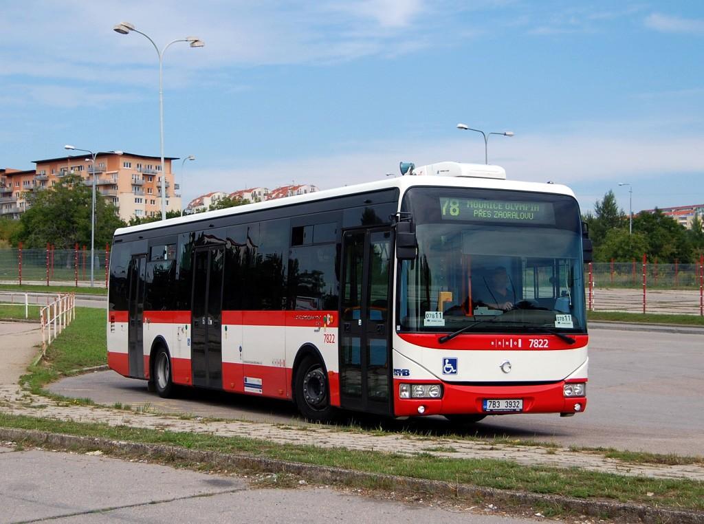 Fotogalerie » Irisbus Crossway LE 12M 7B3 3932 7822 | Brno | Líšeň | Trnkova | Zetor, smyčka
