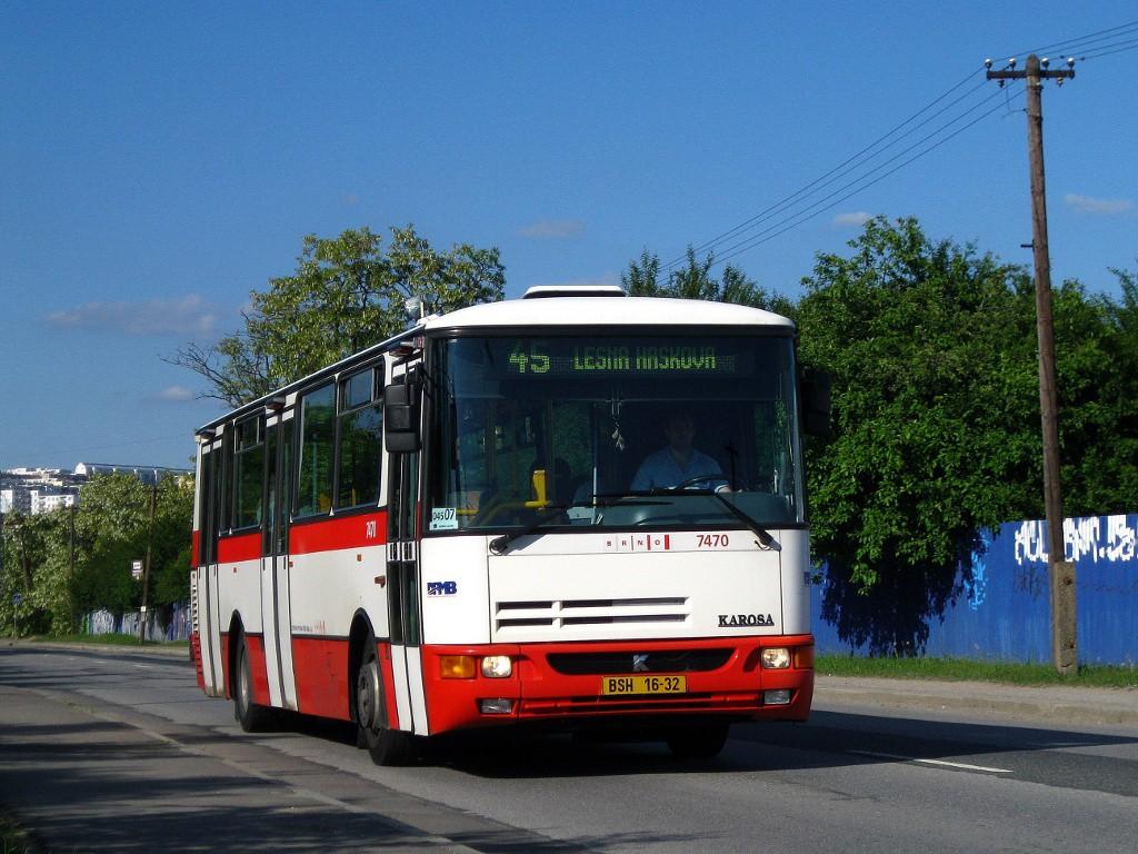 Fotogalerie » Karosa B931E.1707 BSH 16-32 7470 | Brno | Líšeň | Křtinská