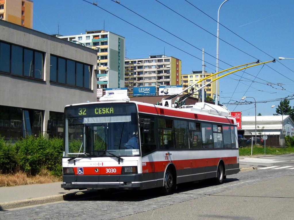 Fotogalerie » Škoda 21Tr 3030 | Brno | Královo Pole | Budovcova | Královo Pole, nádraží, smyčka
