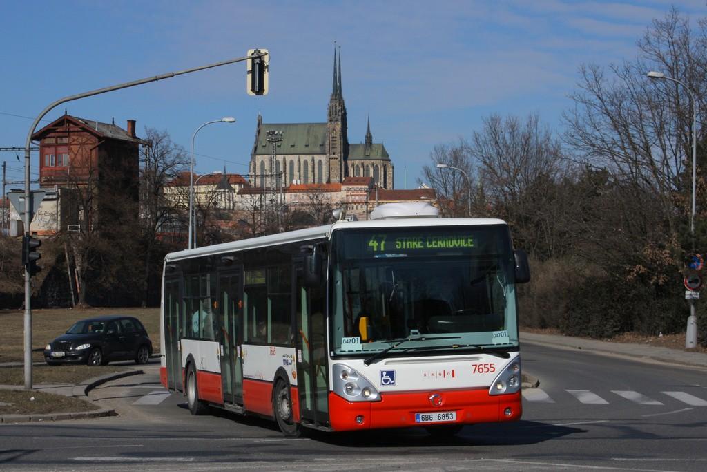 Fotogalerie » Irisbus Citelis 12M 6B6 6853 7655 | Brno | Trnitá | Uhelná