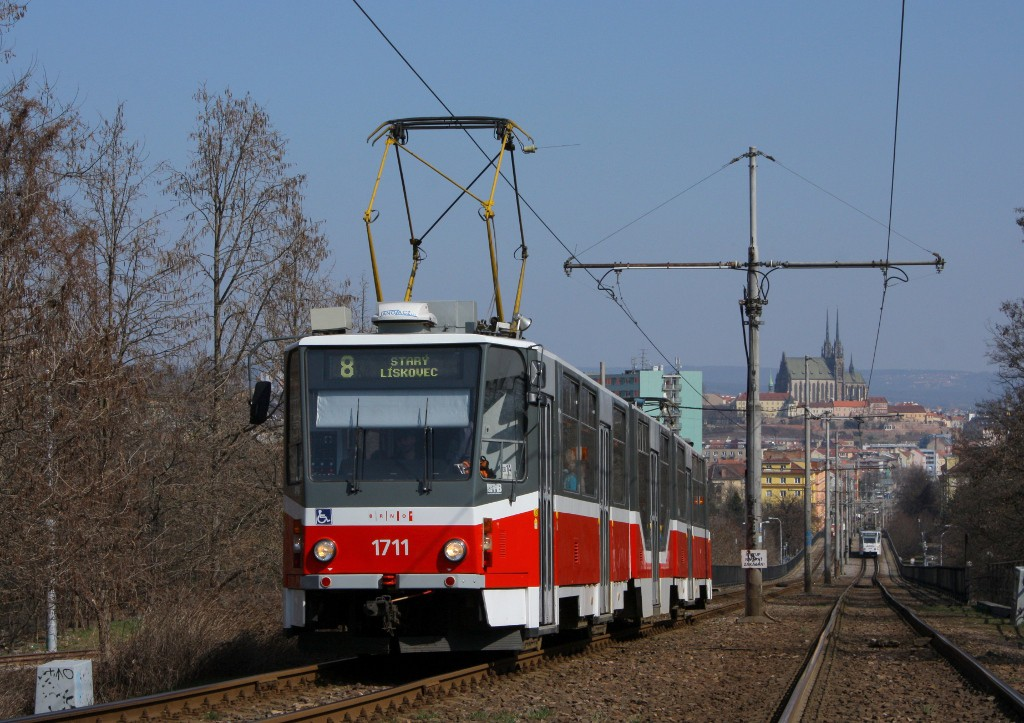 Fotogalerie » ČKD Tatra KT8D5R.N2 1711 | Brno | Štýřice