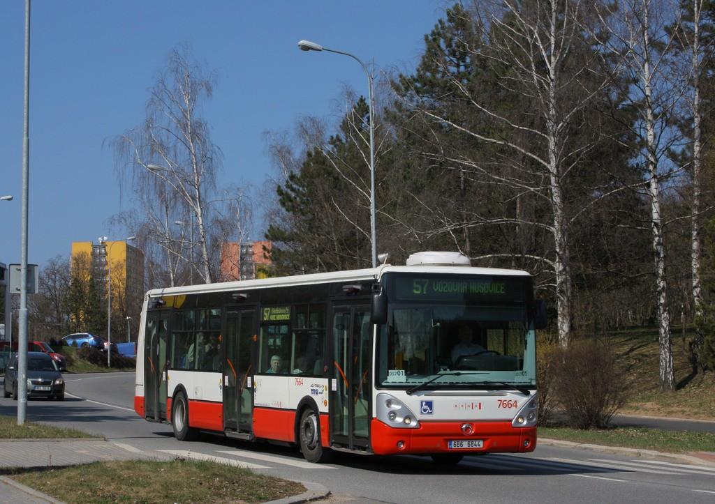 Fotogalerie » Irisbus Citelis 12M 6B6 6844 7664 | Brno | Lesná | Okružní