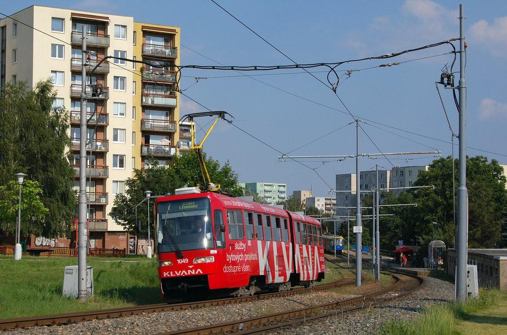 Fotogalerie » ČKD Tatra K2R03-P 1049 | Brno | Starý Lískovec | Jemelkova