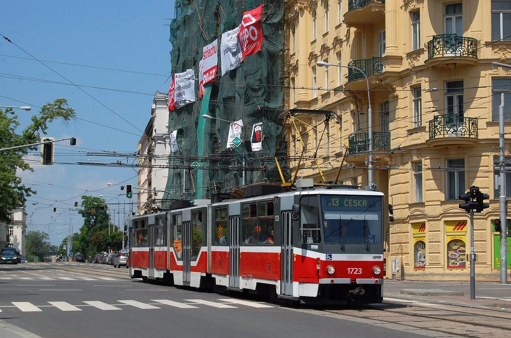 Fotogalerie » ČKD Tatra KT8D5R.N2 1723 | Brno | Veveří | Konečného náměstí