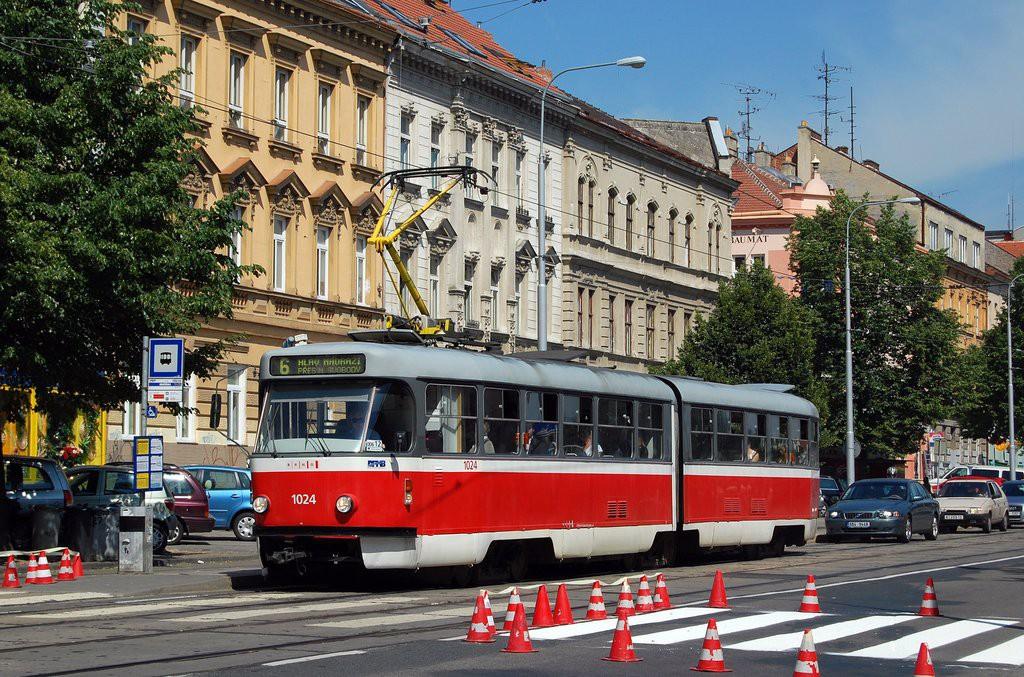 Fotogalerie » ČKD Tatra K2P 1024 | Brno | Ponava | Štefánikova | Hrnčířská