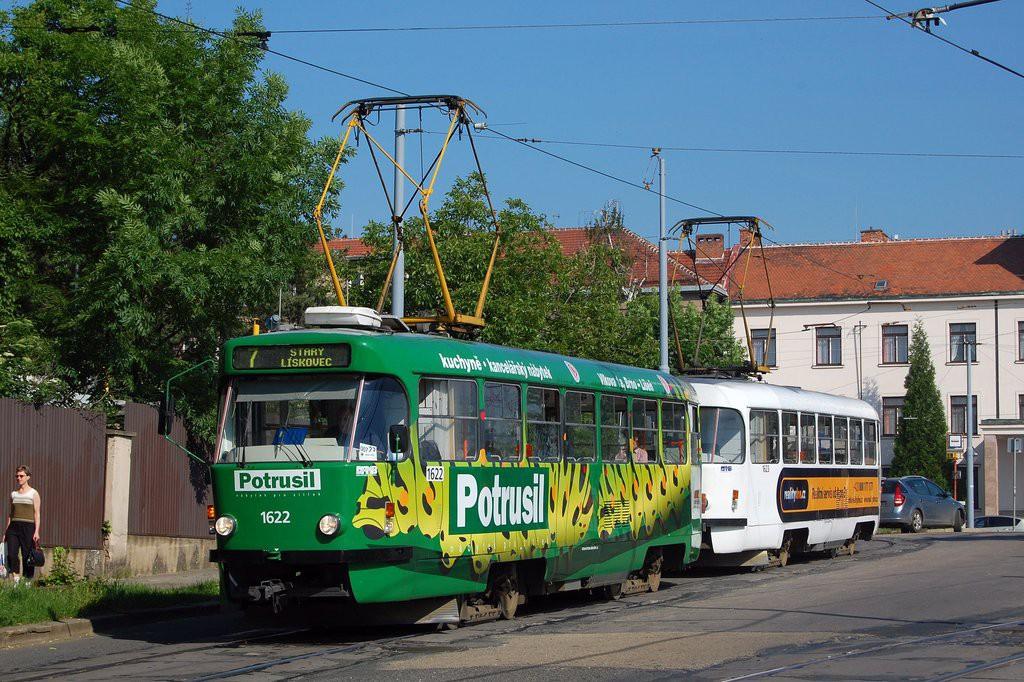 Fotogalerie » ČKD Tatra T3P 1622 | ČKD Tatra T3P 1623 | Brno | Masarykova Čtvrť | náměstí Míru