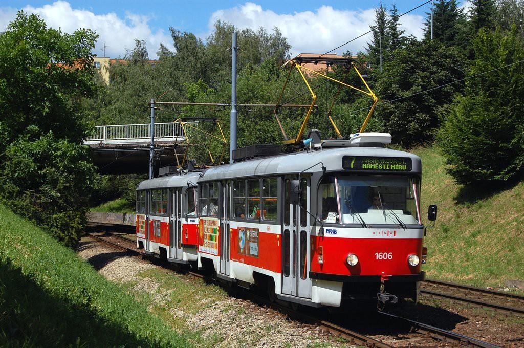 Fotogalerie » ČKD Tatra T3G 1606 | ČKD Tatra T3G 1608 | Brno | Bohunice