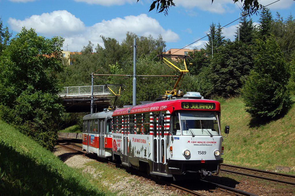 Fotogalerie » ČKD Tatra T3P 1589 | Pragoimex T3R.PV 1558 | Brno | Bohunice