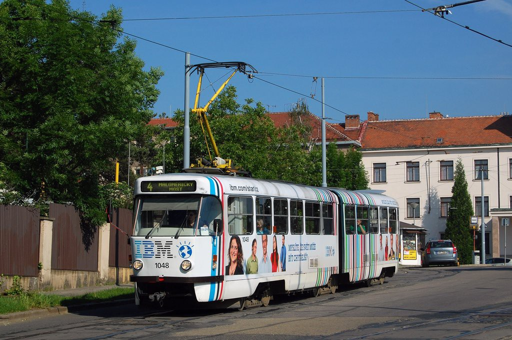 Fotogalerie » ČKD Tatra K2P 1048 | Brno | Masarykova Čtvrť | náměstí Míru