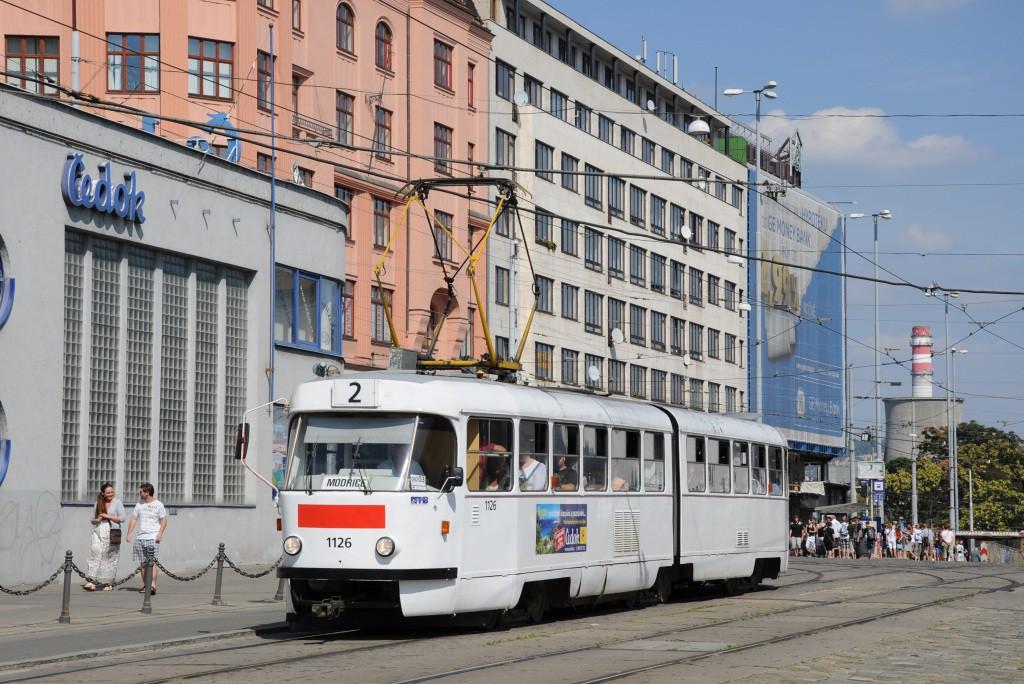Fotogalerie » ČKD Tatra K2MM 1126 | Brno | střed | Nádražní