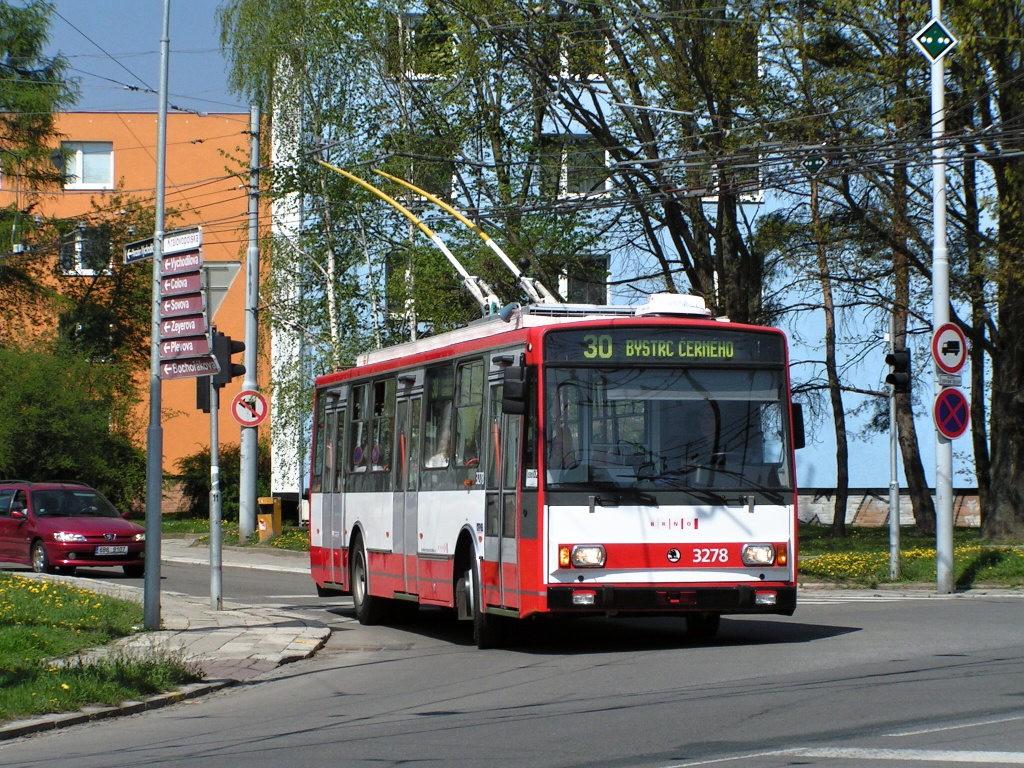 Fotogalerie » Škoda 14Tr17/6M 3278   Brno   Žabovřesky   Přívrat
