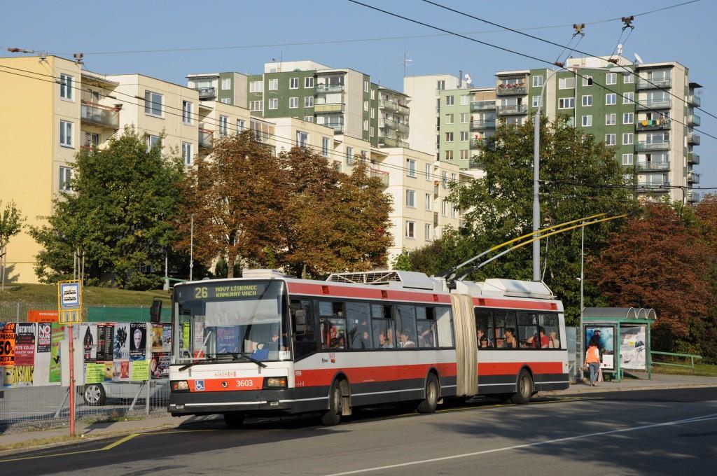 Fotogalerie » Škoda 22Tr 3603 | Brno | Vinohrady | Věstonická | Bořetická