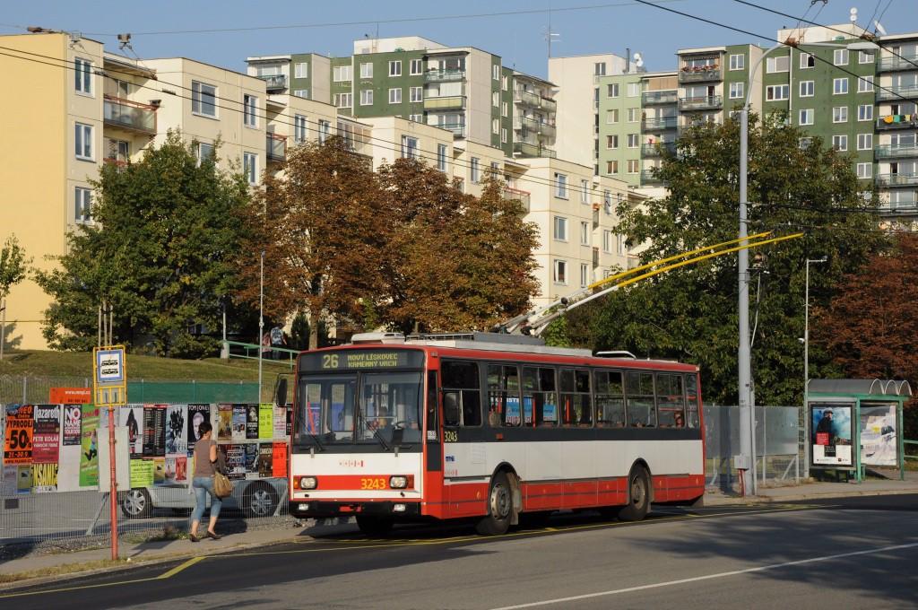 Fotogalerie » Škoda 14TrR 3243 | Brno | Vinohrady | Věstonická | Bořetická