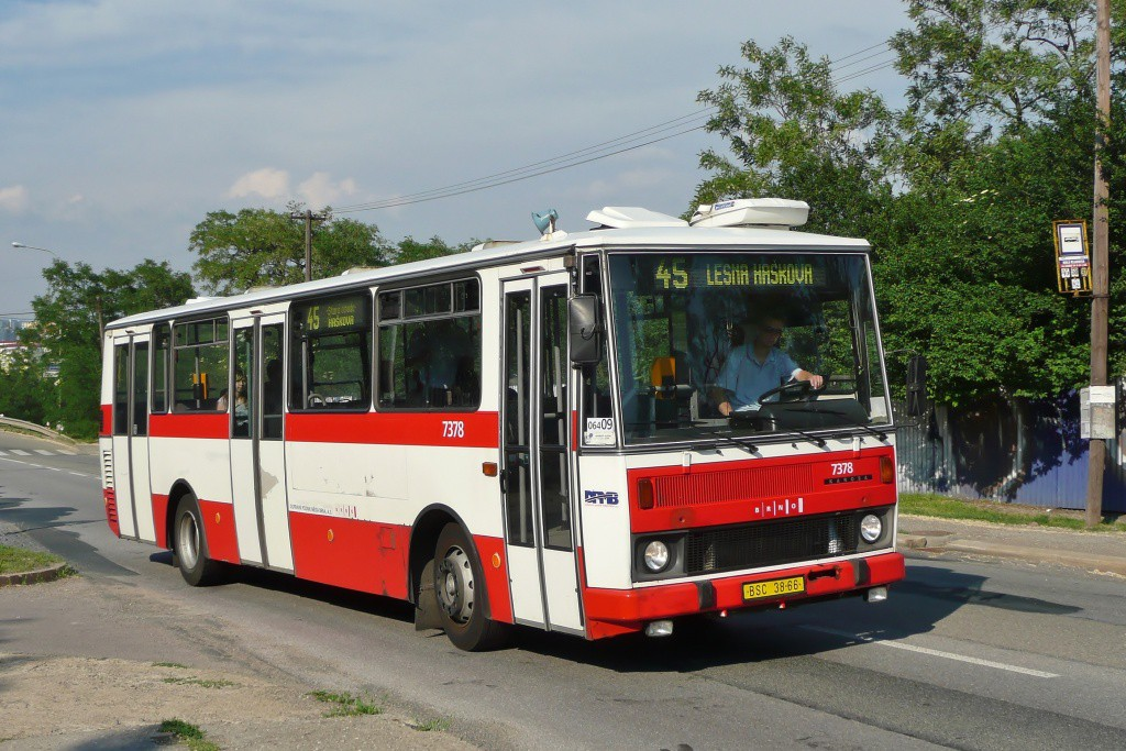 Fotogalerie » Karosa B732.1654.3 BSC 38-66 7378 | Brno | Líšeň | Křtinská | Malá Klajdovka