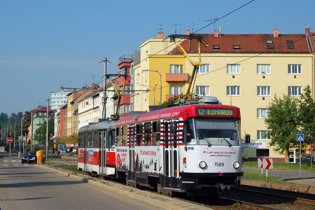 Fotogalerie » ČKD Tatra T3P 1589 | Pragoimex T3R.PV 1558 | Brno | Štýřice | Renneská