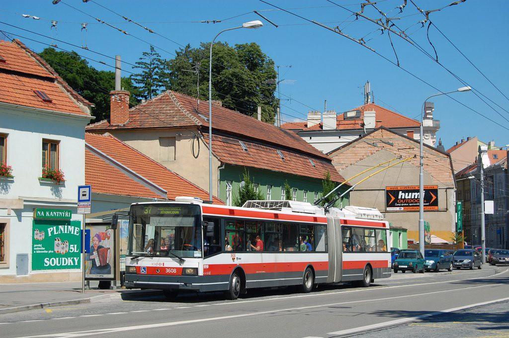 Fotogalerie » Škoda 22Tr 3608 | Brno | Pisárky | Hlinky | Výstaviště, hlavní vstup