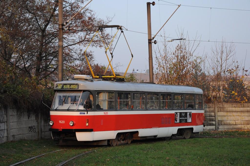 Fotogalerie » ČKD Tatra T3P 1620   Brno   Stránská skála   Stránská skála, smyčka