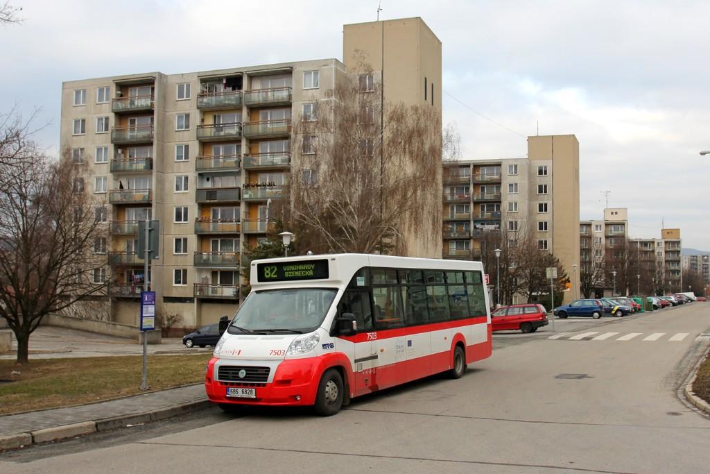 Fotogalerie » MAVE-Fiat CiBus ENA MAXI 6B6 6828 7503 | Brno | Starý Lískovec | Valašská