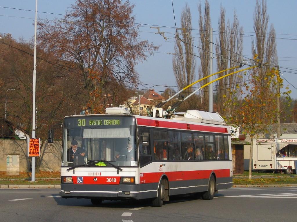 Fotogalerie » Škoda 21Tr 3018 | Brno | Bystrc | Odbojářská