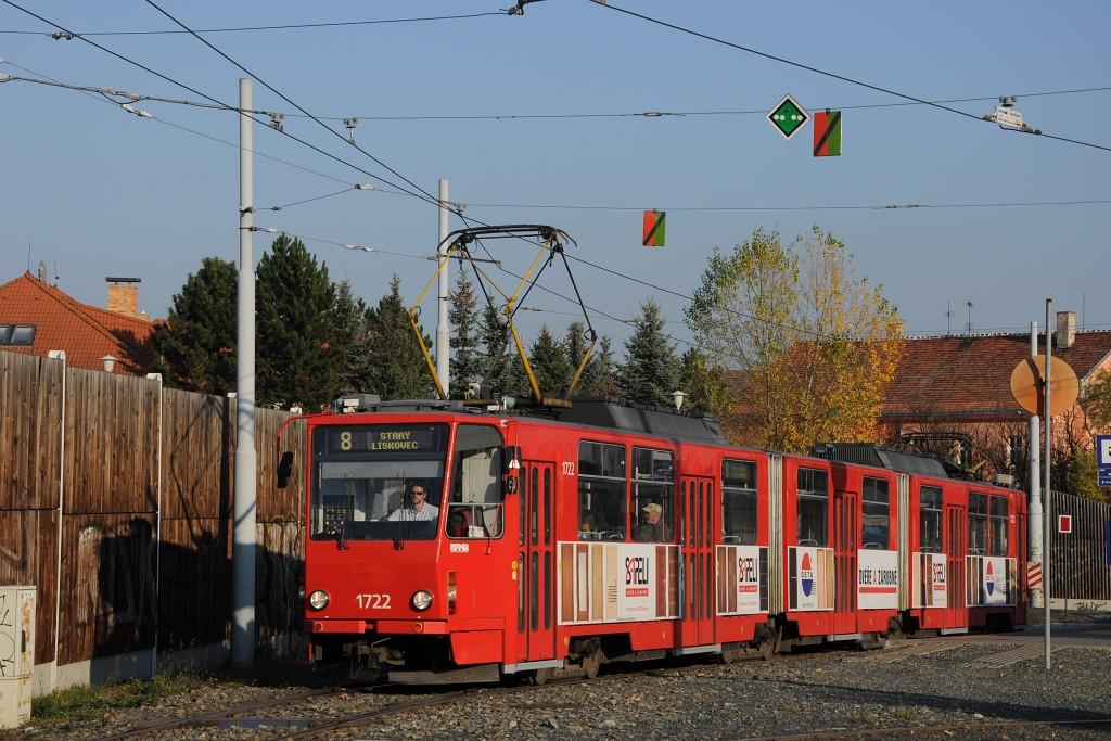 Fotogalerie » ČKD Tatra KT8D5 1722 | Brno | Líšeň | Mifkova
