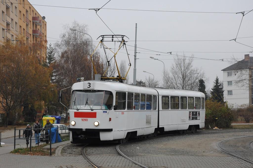 Fotogalerie » ČKD Tatra K2 1090   Brno   Židenice   Stará osada   Stará osada, smyčka