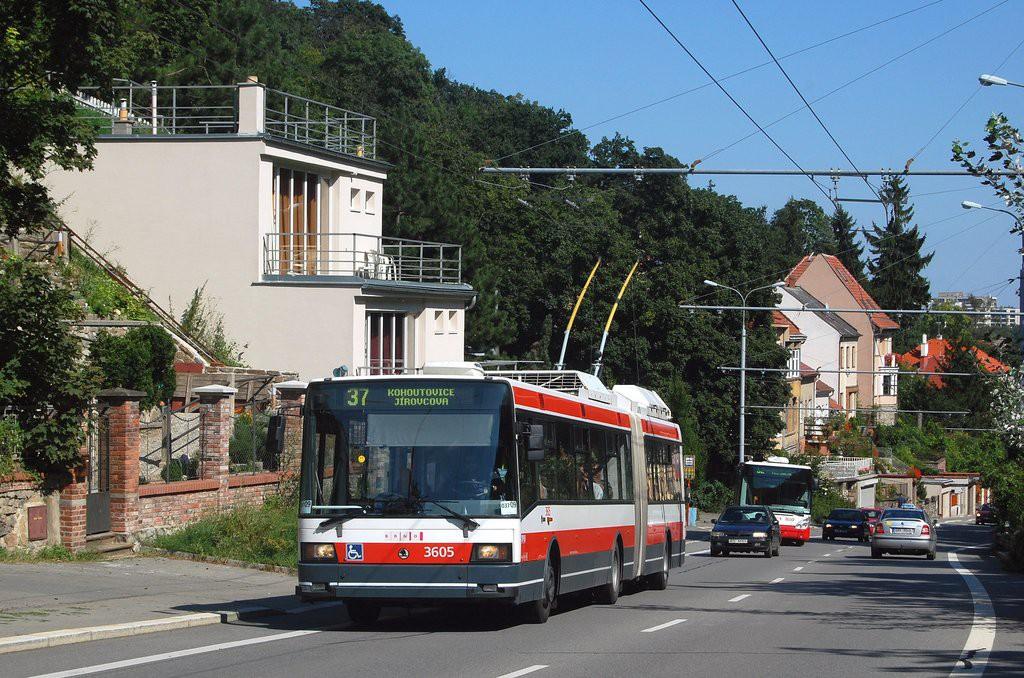 Fotogalerie » Škoda 22Tr 3605 | Brno | Kohoutovice | Libušino údolí