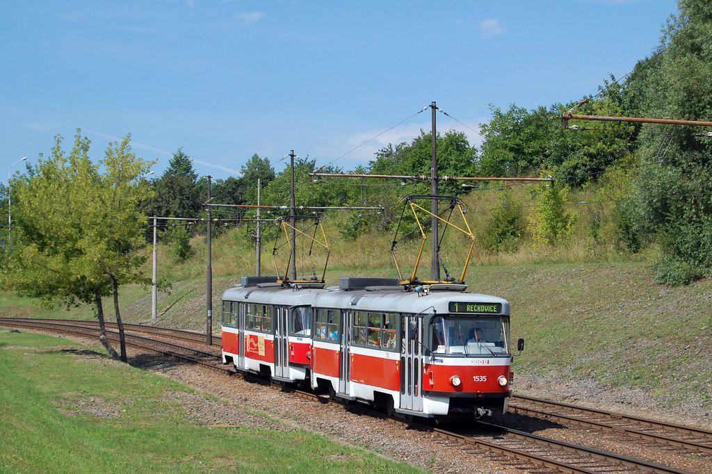 Fotogalerie » ČKD Tatra T3M 1535 | ČKD Tatra T3M 1557 | Brno | Bystrc