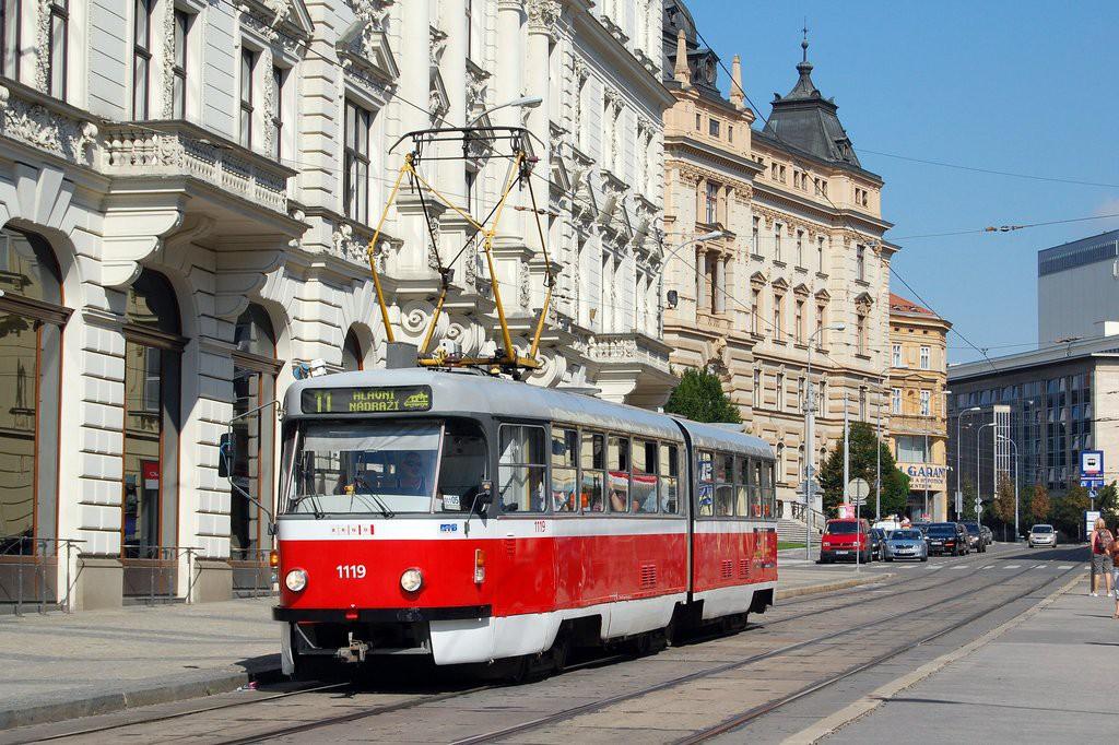 Fotogalerie » ČKD Tatra K2P 1119 | Brno | střed | Malinovského náměstí | Malinovského náměstí