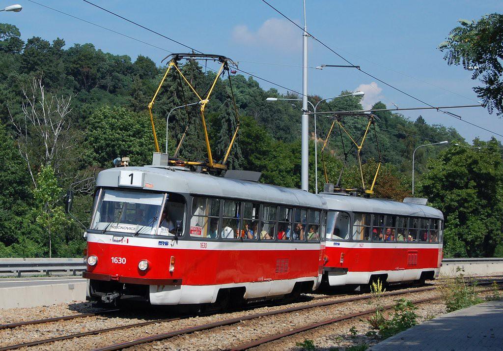 Fotogalerie » ČKD Tatra T3T 1630 | ČKD Tatra T3T 1627 | Brno | Pisárky | Žabovřeská