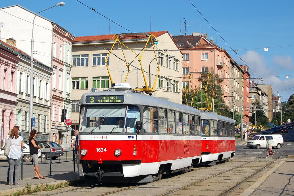 Fotogalerie » ČKD Tatra T3G 1634 | ČKD Tatra T3G 1616 | Brno | Černá Pole | Jugoslávská | Jugoslávská