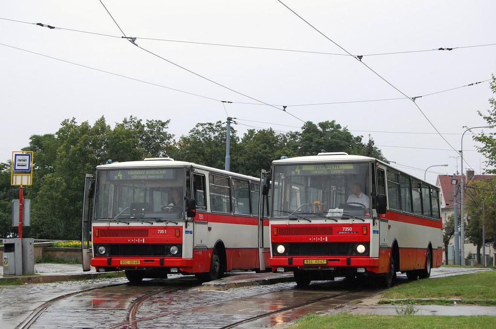 Fotogalerie » Karosa B732.1654 BSC 03-47 7350 | Karosa B732.1654 BSC 03-48 7351 | Brno | Masarykova čtvrť | Náměstí míru | Náměstí Míru, smyčka