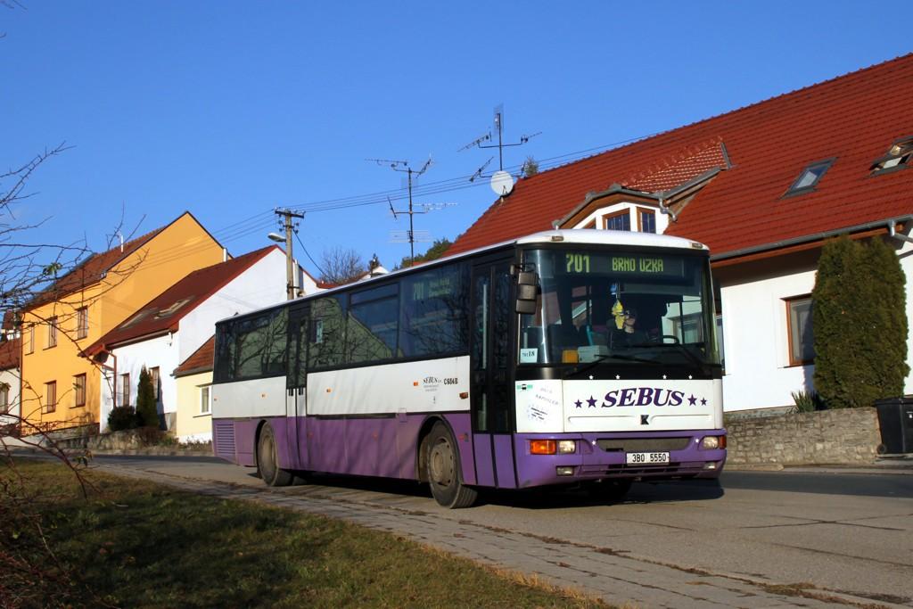 Fotogalerie » Karosa C954E.1360 3B0 5550 | Mokrá-Horákov | Mokrá-Horákov, sídliště
