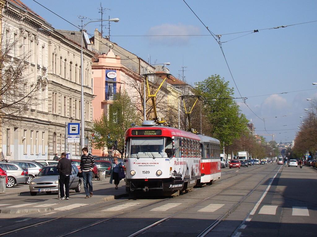 Fotogalerie » ČKD Tatra T3P 1589 | Pragoimex T3R.PV 1558 | Brno | Ponava | Štefánikova | Hrnčířská